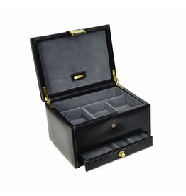 Dulwich Design Uhrenbox Leder 3 Stück schwarz