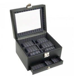 Dulwich Design Uhrenbox Leder 6 Stück mit Schublade