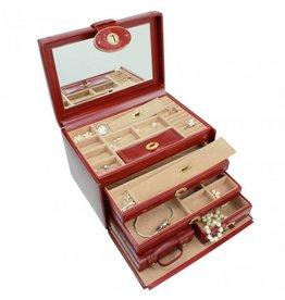 Dulwich Design Boîte à bijoux Heritage rouge XL