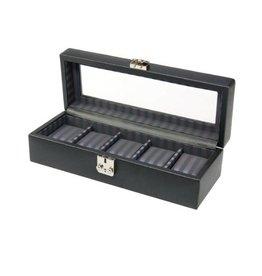 Dulwich Design Uhrenbox für 5 Uhren Leder