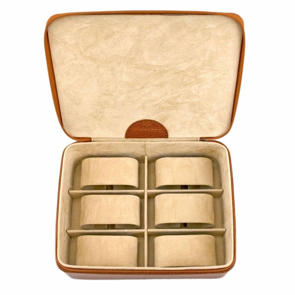 Horlogedoos 6 pcs  Cognac Compact