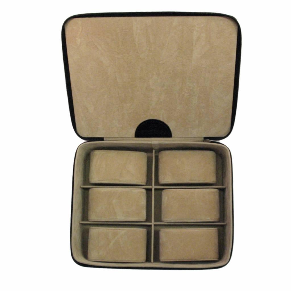 Uhrenbox für 6 Uhren Schwarz Kompakt
