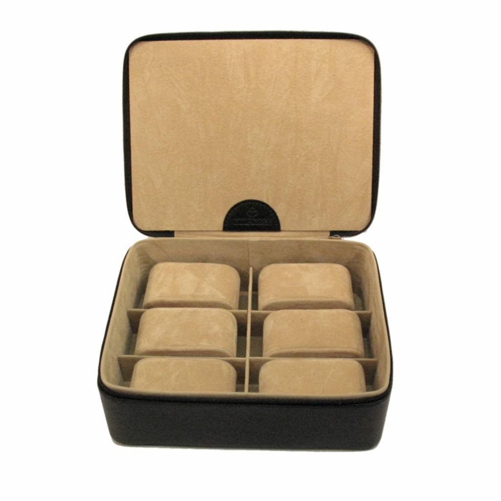 Horlogebox 6 pcs  Zwart Compact