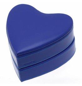 Davidts Schmuckschatulle Herz Königsblau