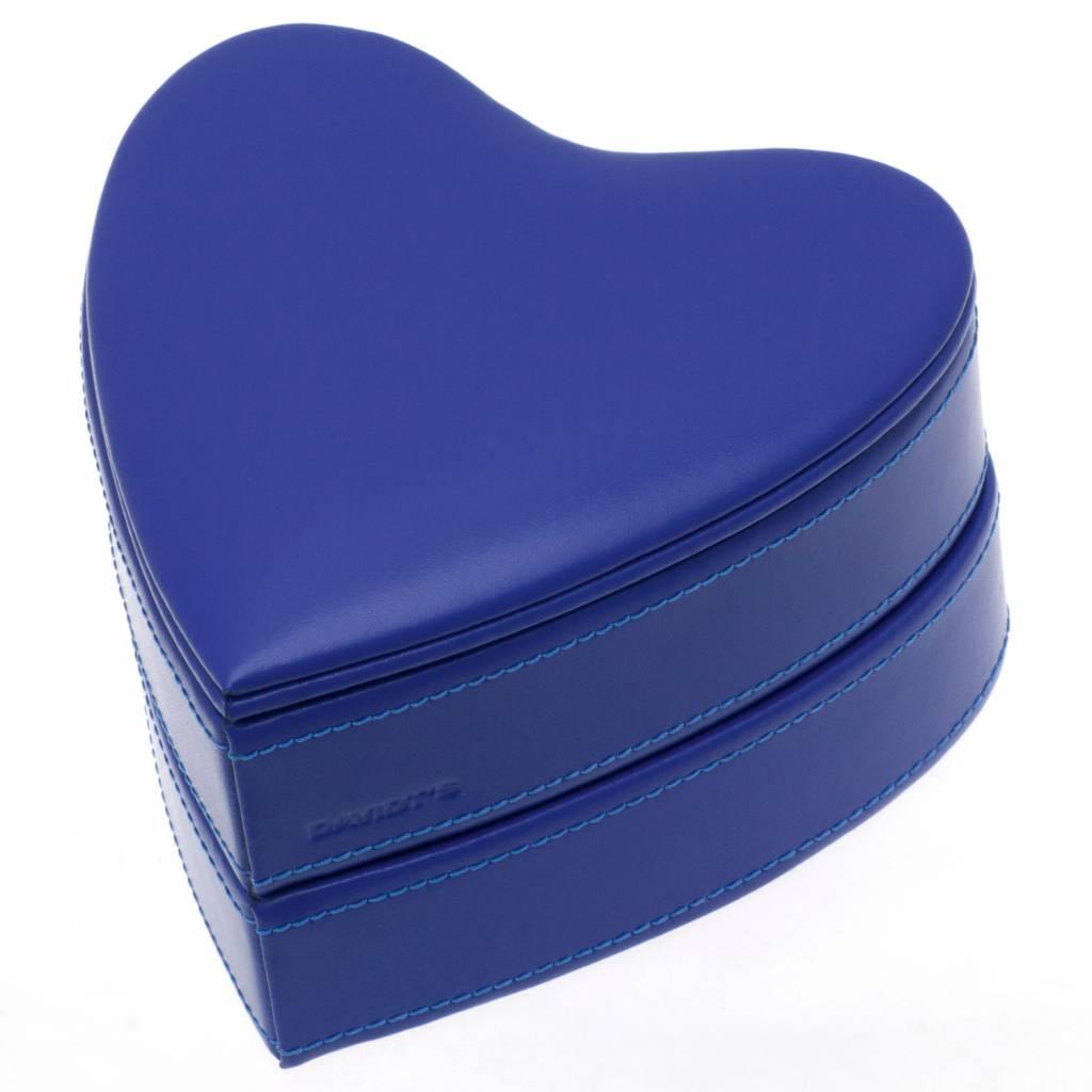 Juwelendoos Hart Koning Blauw