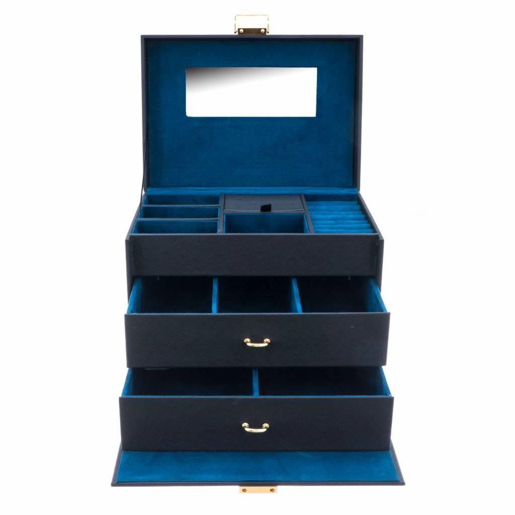 Boîte à Bijoux Turquoise Flowers