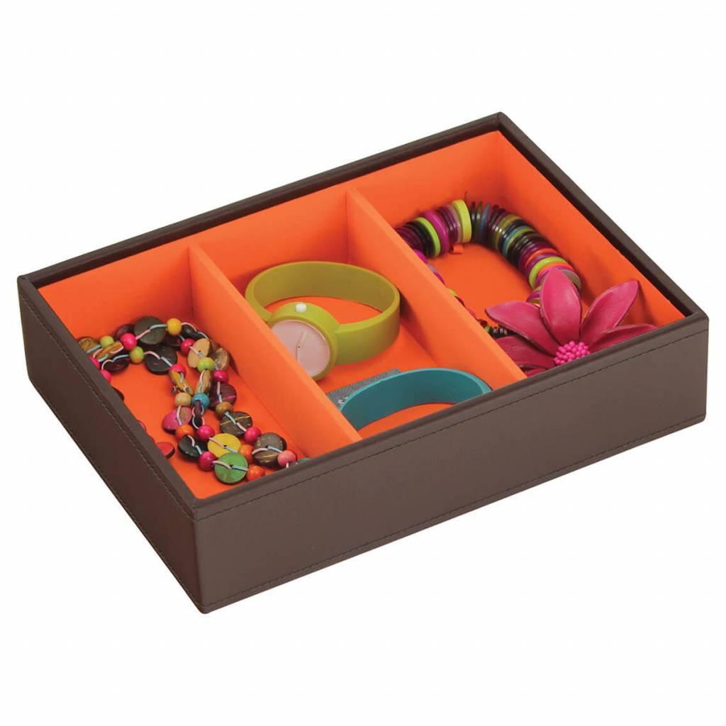 Sieradendoos Chocolate Brown Classic set telefoonhouder & horlogedoos