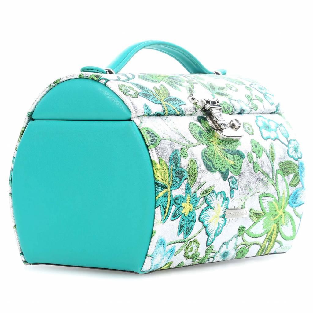 Sieradendoos Blossom Rond Turquoise