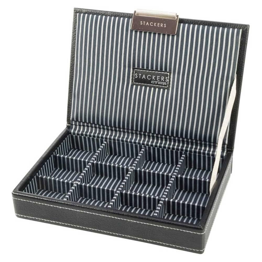 Black & Stripes Mini Boîte à Boutons de Manchette