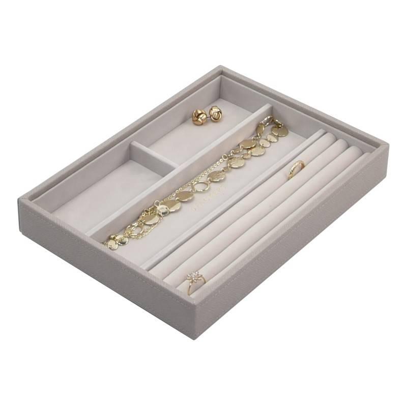 Sieradendoos Taupe Classic 4-vaks voor ringen en armbanden