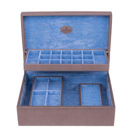 Windrose Schmuckkasten Moda Charm Aufbewahrungsbox Grau