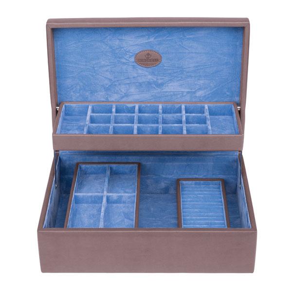 Schmuckkasten Moda Charm Aufbewahrungsbox Grau