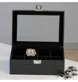 Huiscollectie boîte de montre en croco 8 pcs
