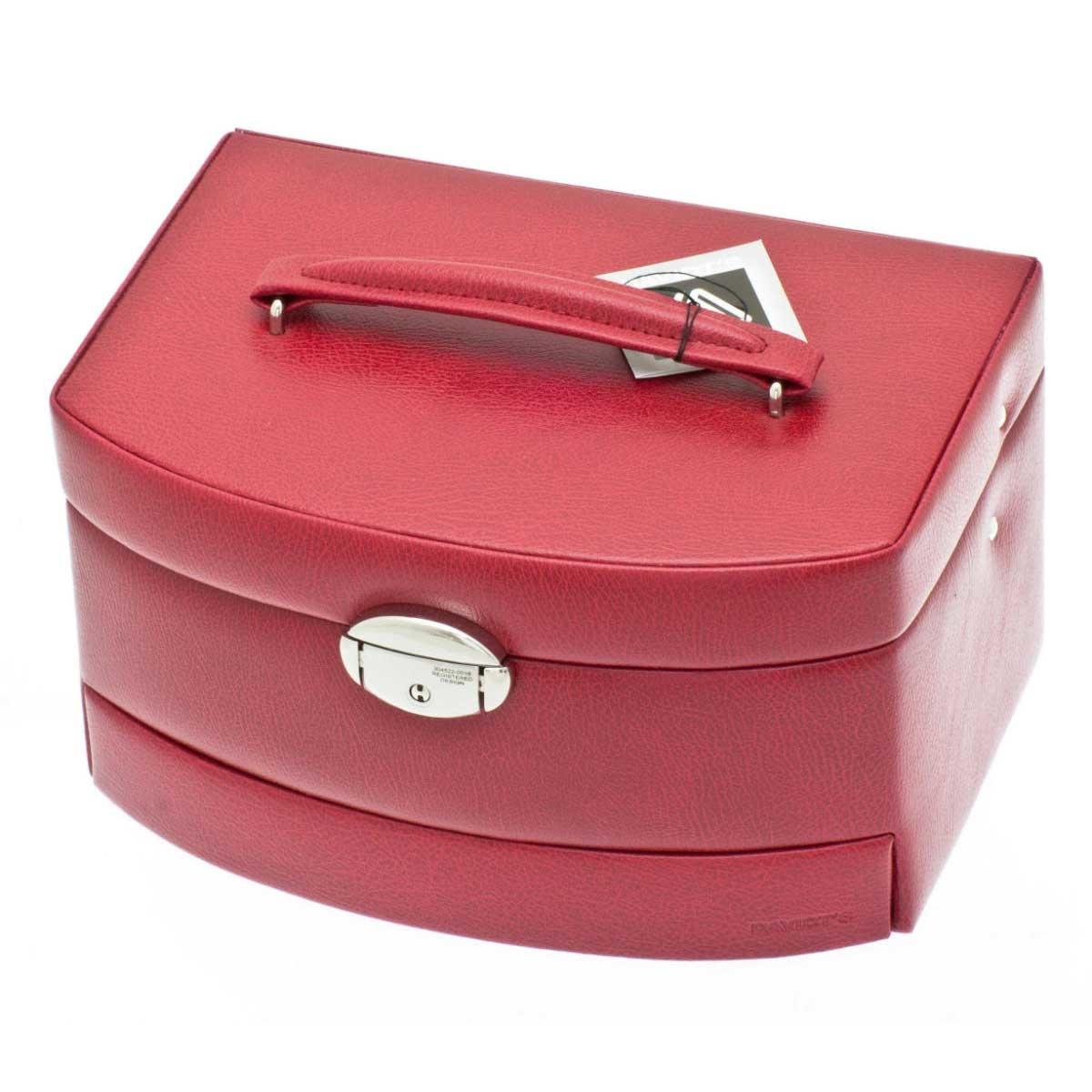 Boîte à Bijoux Euclide rouge