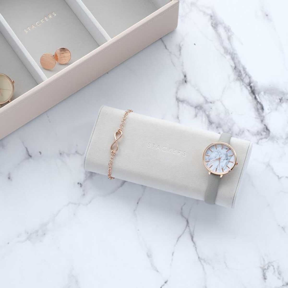 Sieraden-/horlogedoos Grey horloge/armbandhouder