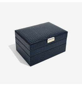 Stackers Schmuckkasten Navy Croc Classic Set