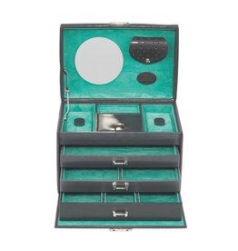 Windrose Boîte à bijoux Anthracite Merino