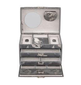 Windrose Boîte à bijoux Camouflage Gris Argent