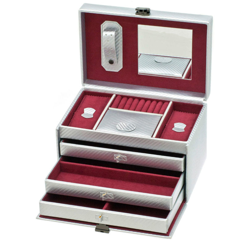 Boîte à Bijoux Graphite Argent