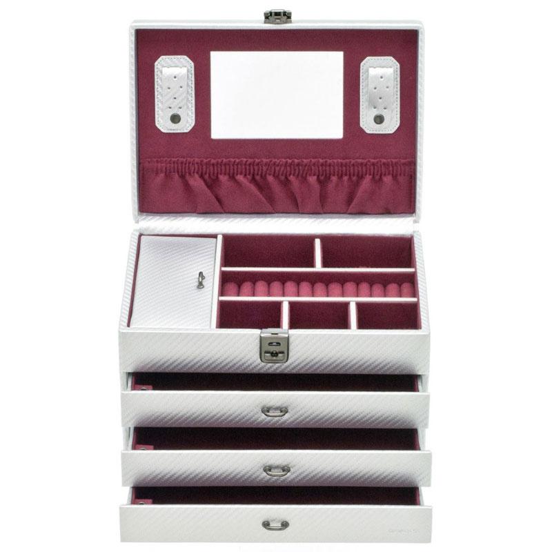 Boîte à Bijoux Graphite Argent L