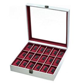 Davidts Uhrenbox für 18 Uhren Graphite SIlber