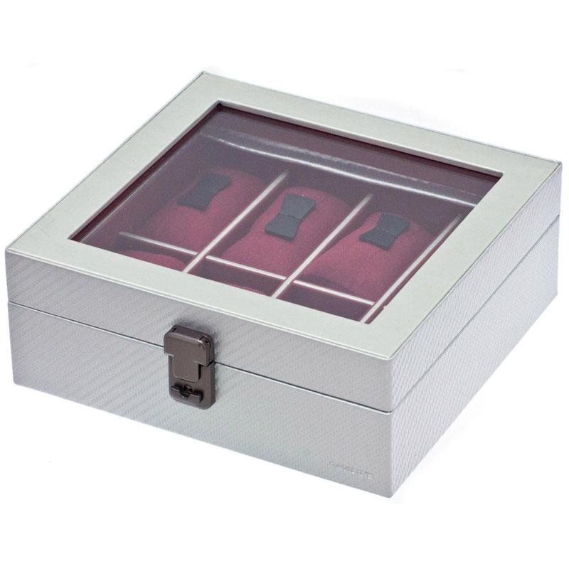 Uhrenbox für 8 Uhren Graphite Silber
