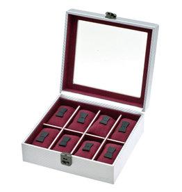 Davidts Boîte de Montre Pour 8 montres graphite argent