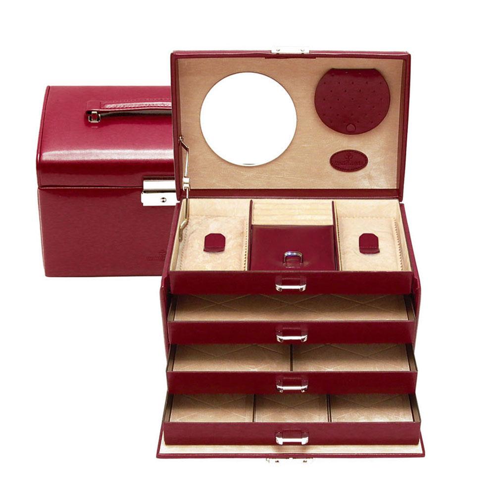 Boîte à Bijoux Merino Rouge
