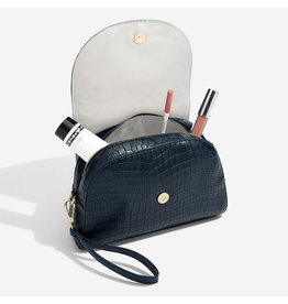 Stackers Navy Croc Trousse de maquillage