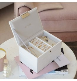 Stackers Coffret à bijoux Chalk White Croc Mini Set