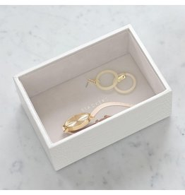 Stackers Boîte à bijoux Chalk White Croc Mini 1 compartiment