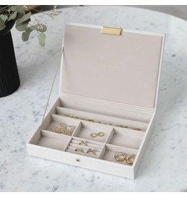Stackers Boîte à bijoux Chalk White Croc Classic top