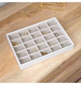 Stackers Boîte à bijoux Chalk White Croc Classic 25 compartiments