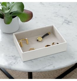 Stackers Coffret à bijoux Chalk White Croc Classic 1 compartiment