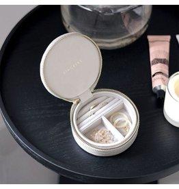 Stackers Boîte à bijoux Chalk White pochette de voyage croc autour