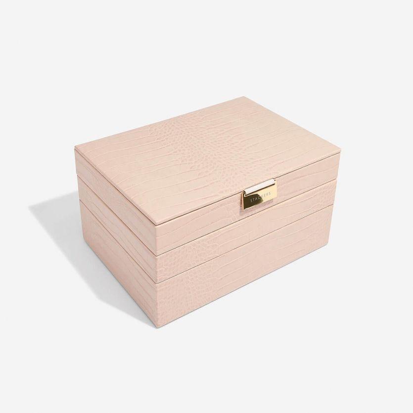 Sieradendoos Pink Croc Classic set