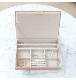Stackers Boîte à bijoux Pink Croc Classic top