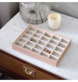 Stackers Boîte à bijoux Pink Croc CLassic 25 compartiments