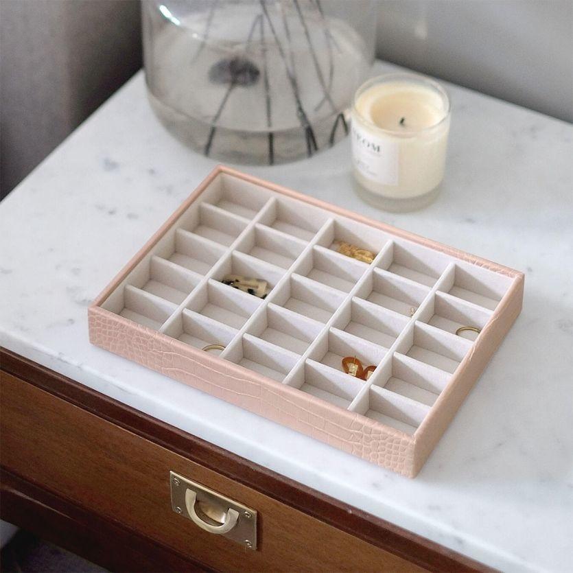 Boîte à bijoux Pink Croc Classic 25 compartiments