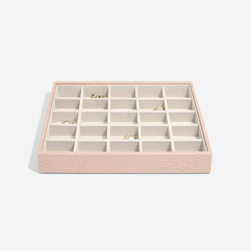 Schmuckschatulle Pink Croc Classic 25 Fächer
