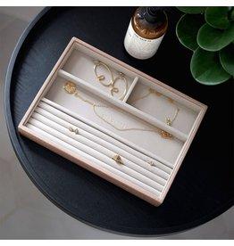 Stackers Boîte à bijoux Pink Croc Classic 4 compartiments