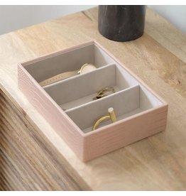 Stackers Boîte à bijoux Pink Croc Classic 3 compartiments