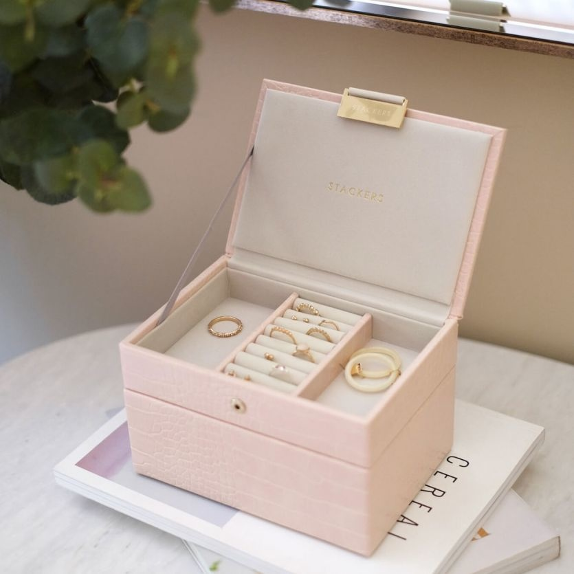 Coffret à bijoux Pink Croc Mini Set