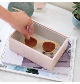 Stackers Boîte à bijoux Pink Croc Mini 1 compartiment
