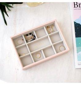 Stackers Boîte à bijoux Pink Croc Mini 11 compartiments