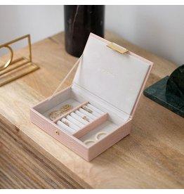 Stackers Boîte à bijoux Pink Croc Mini Top