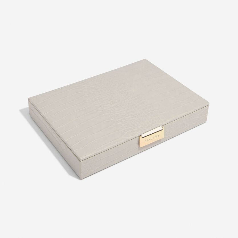 Boîte à bijoux Putty Croc Classic top