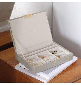 Stackers Boîte à bijoux Putty Croc Classic top