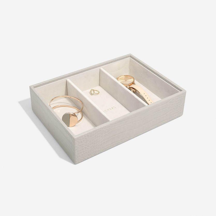 Boîte à bijoux Putty Croc Classic 3 compartiments