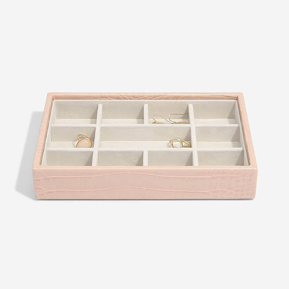 Boîte à bijoux Pink Croc Mini 11 compartiments